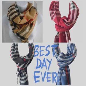 Accessories - NEW COLORS Tartan Plaid Blanket Scarf